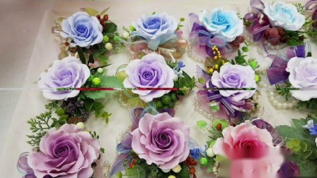 超輕粘土作品 玫瑰花花飾