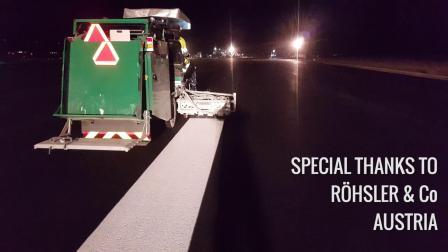BM3000CA在奥地利机场冷漆无气喷涂作业