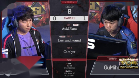 星际2 GSL2018S3 16强B组(1)Dark(Z) vs Gumiho(T) 2018