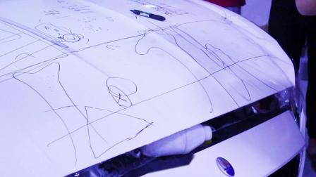 玛莎拉蒂前机盖贴隐形车衣精细讲解教学视频 透明膜教程 黑克膜业原创