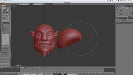 blenderCN-魔兽萨尔Blender3D雕刻教程04-深圳阿超