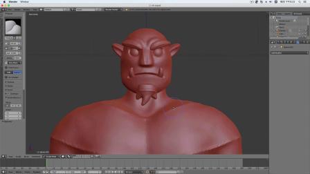 blenderCN-魔兽萨尔Blender3D雕刻教程01-深圳阿超