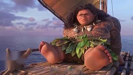 海洋奇缘(片段)女孩被丢下,幸好有大海帮她追上船只!