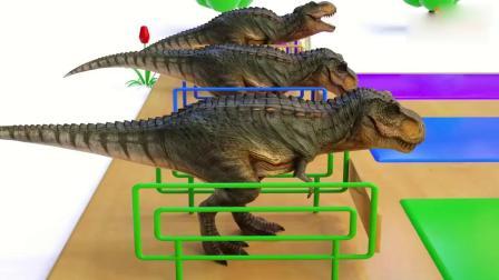 亲子动画 3D恐龙吃辣椒学习颜色