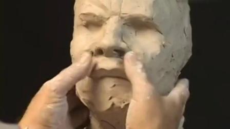 完整的泥塑头像制作过程 学素描便于理解头部结构