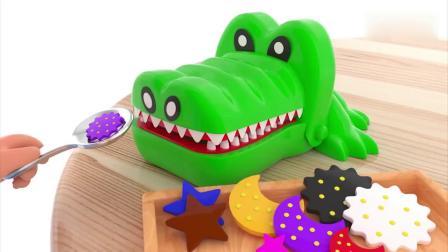 亲子动画 儿童3D动漫宝宝玩玩具过家家给恐龙宝宝吃饼干