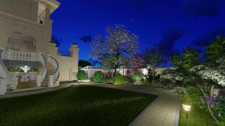 东菱宝石公馆花园景观庭院设计LUMION三维动画效果图