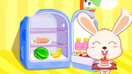 宝宝认知大全 奇奇妙妙从冰箱里拿冰激凌吃
