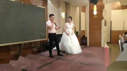 王磊结婚台上发言