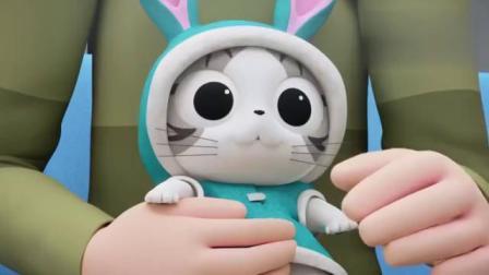 《甜甜私房猫》爸爸给小奇穿兔子装,小奇会喜欢这套衣服吗?