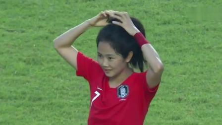 感觉韩国女足亚运会拿冠军有戏,李珉娥进球