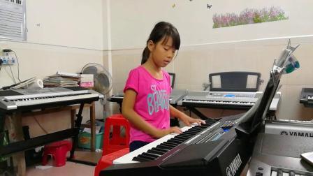 电子琴入门曲目《四季歌》(温乐淇)20180825