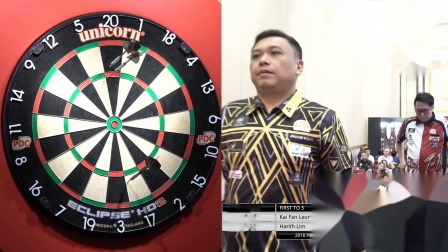 Harith Lim vs Kevin Leung-2018 PDC Asian Tour 8 KL Semi Final One