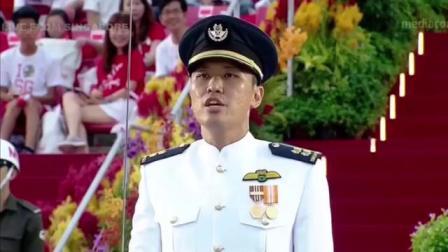 新加坡2018国庆日阅兵分列式