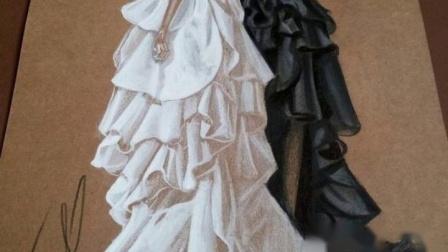 服装设计图片手绘图片,婚纱照美翻了!
