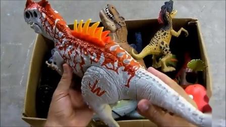 亲子早教 恐龙世界儿童玩具,认识各霸王龙等各种各样的恐龙