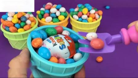 斑点鸡蛋冰淇淋杯惊喜玩具商店快乐地方儿童乐趣