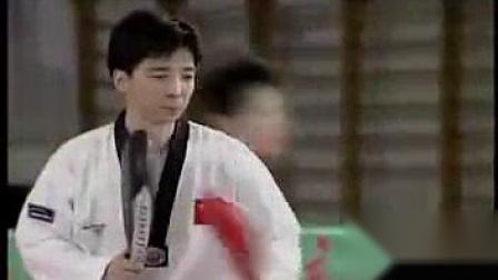 我在央视《跆拳道》中文教学第八集截了一段小视频