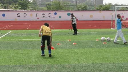 《足球-脚背正面,内侧踢球》人教版初一体育与健康,陈卫国