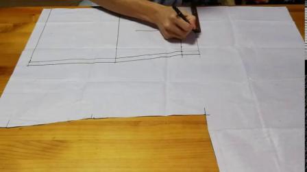 A字裙裁剪图有一处是新手画图的误区,了解这一步,10分钟就画好