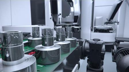 全自动机械手臂齿轮制造三维动画