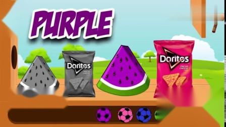 西瓜和零食被路过的才色 足球染色了 动画片