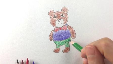 朵拉简笔画:小朋友喜欢布娃娃吗,今天教你们画一只小熊娃娃吧