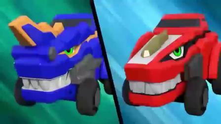 亲子:变形恐龙玩具三角龙5合体变形机器人玩具