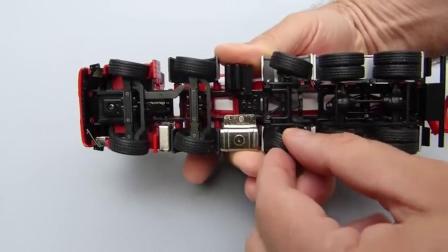 亲子:康拉德汽车利勃海尔大卡车水泥搅拌车 金属玩具模型视频
