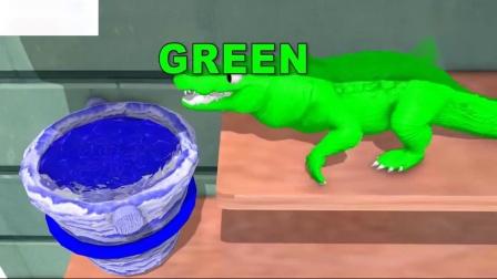 用鲨鱼的颜色学习孩子们的颜色海洋动物为孩子们学习儿童的彩色视频