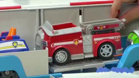 亲子:汪汪队立大功移动救援大巴士小狗狗巡逻车旺旺队变形儿童玩具套装