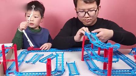 亲子:消防基地小汽车轨道消防车玩具视频动画片玩具车视频大全儿童集锦