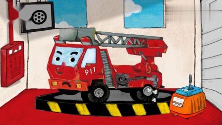 英语动画小故事消防车每天自查才能好好工作少儿英语