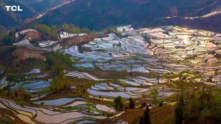 4K风景演示片云南新疆大自然飘动的云层乡村山野