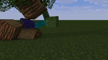我的世界动画-第一视角对丧尸-AymOrb