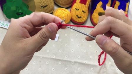 巧手女工编织坊可爱兔棉鞋编织视频教程,纯手工棉鞋编织方法(一)粗毛线手工编织