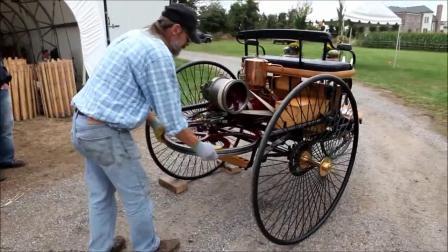 国外牛人手工打造的单缸发动机三轮车,这个启动方式有点特别~~~?#19981;?#23567;编分享的视频,点下关注,每天更新哦