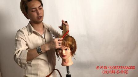 希文老师商业个性高层次动感短发波波头实用发型裁剪视频教程