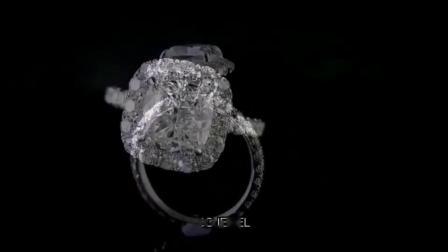 【DD珠宝】垫形克拉钻戒~ 钻石围镶超显钻!