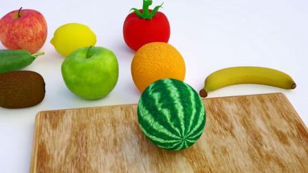 切水果游戏 认识颜色  婴幼儿早教益智动画英语启蒙