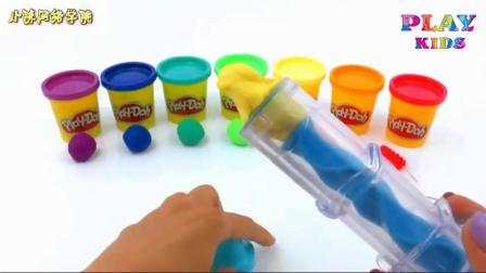 玩如何制作彩虹扭曲冰棒彩虹冰淇淋儿童运动停止视频