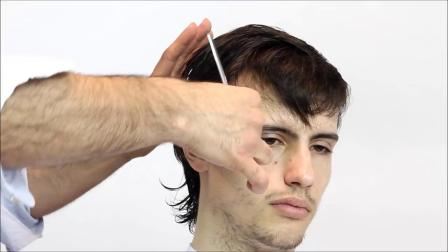 Men's medium layered haircut Full step by step Tutorial