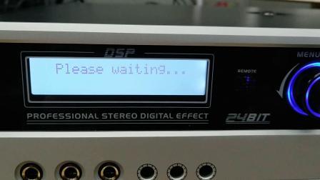 DPZ m2300带数字效果器功放机 开机音量与高通设置