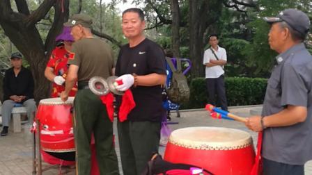 大连中山公园老年秧歌队