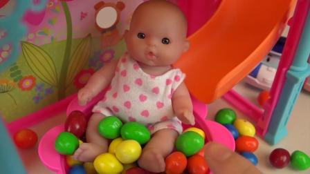 Baby Doll surprise egg house and car toys BabyDoli play