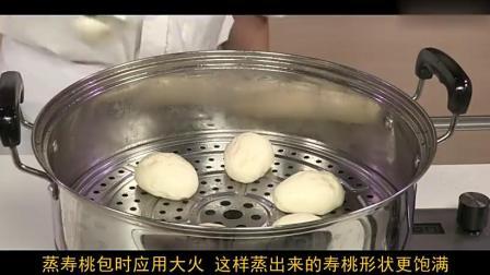 莲蓉寿桃包养心安神,这么好看好吃,这样和面是怎么做的?