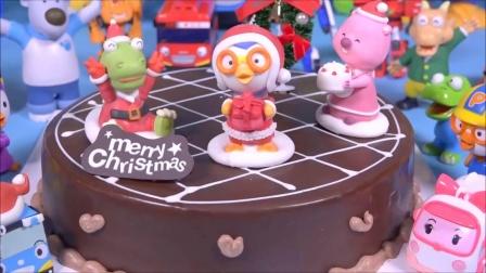 뽀롱뽀롱 Pororo 크리스마스 케이크 타요  슈퍼윙
