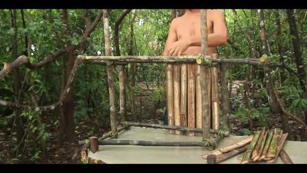 牛人小哥的创意建筑,用竹子搭建的宠物小屋,