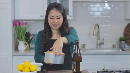 用梅尔柠檬制作美味的糖霜戚风蛋糕