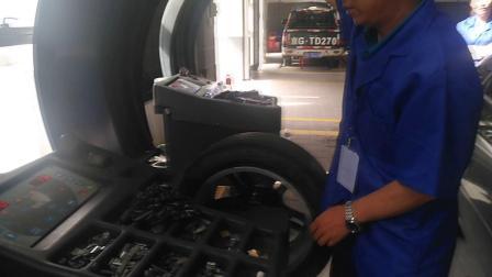 车轮动平衡实验视频